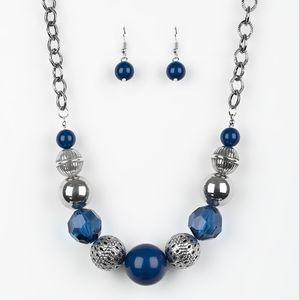 Paparazzi Sugar, Sugar Blue Necklace Set